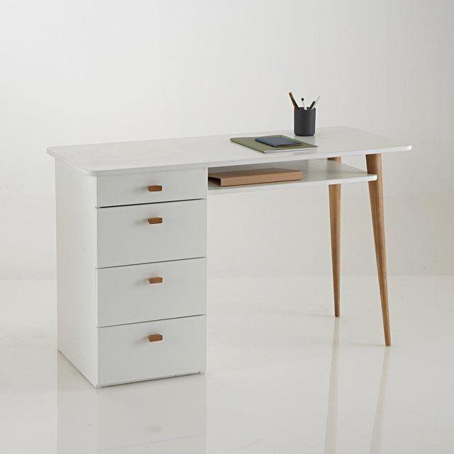 bureau 4 tiroirs jimi la redoute interieurs prix avis. Black Bedroom Furniture Sets. Home Design Ideas