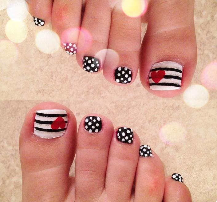 Nail art facile en 20 bonnes ides pour embellir les pieds nail art facile en 20 bonnes ides pour embellir les pieds prinsesfo Images