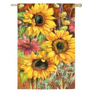Evergreen Large Sunflowers Garden Flag   Mills Fleet Farm