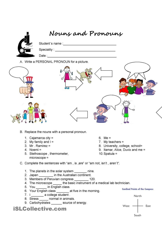 personal pronouns   Teaching - 1st Grade   Pinterest ...