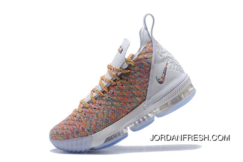new products ff802 85fb5 Nike LeBron 16 White Multicolor Online in 2019 | nike shoes ...