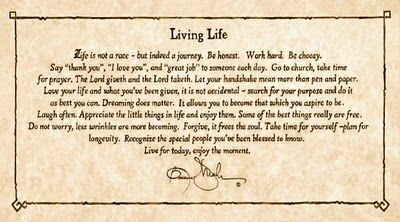 Living Life By Bonnie Mohr Life Is Not A Race But Indeed A Journey Framed  Art