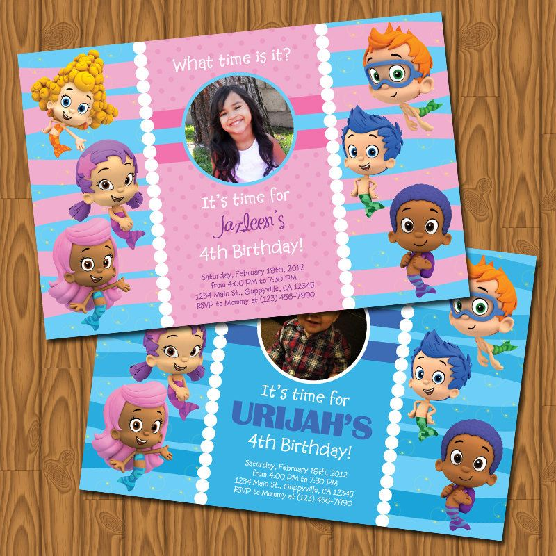 Bubble Guppies Invitation INFANTILES Pinterest – Bubble Guppies Party Invites