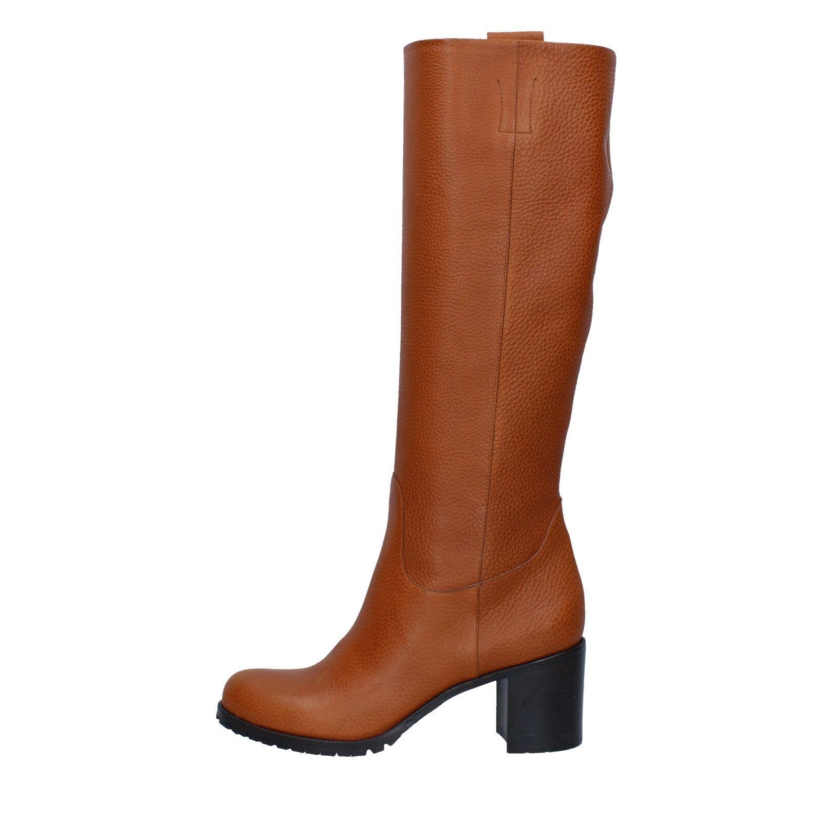 pelle ky564 color cuoio scarpe donna DEIMILLE stivali marrone