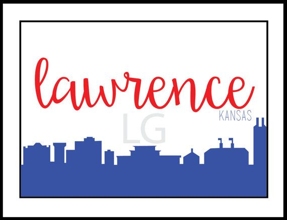 Lawrence KS Skyline By LillyandGinger On Etsy