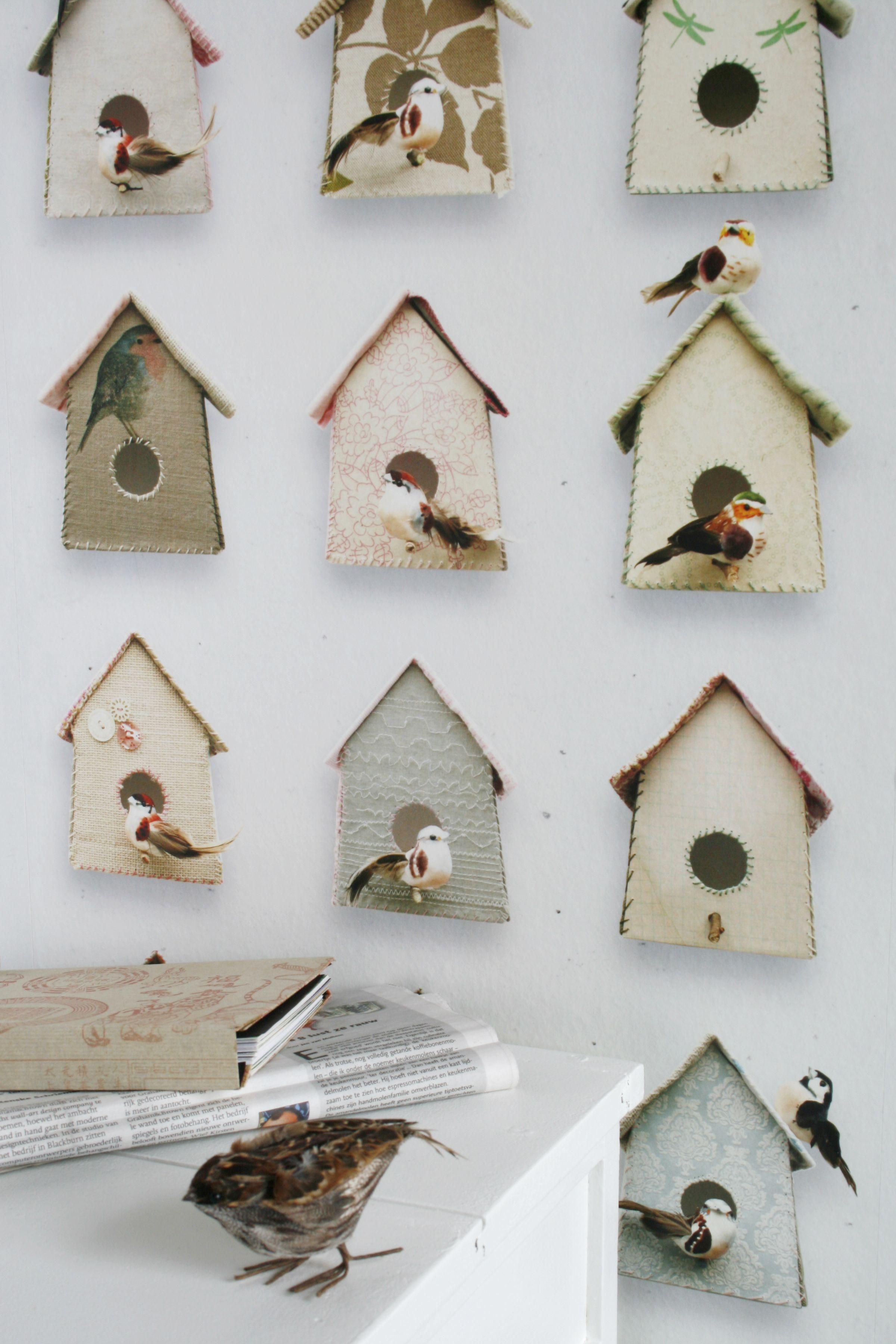 Vogeltjes Behang Lief.Studio Ditte Birdhouse Wallpaper Girlsroom Styling Lief