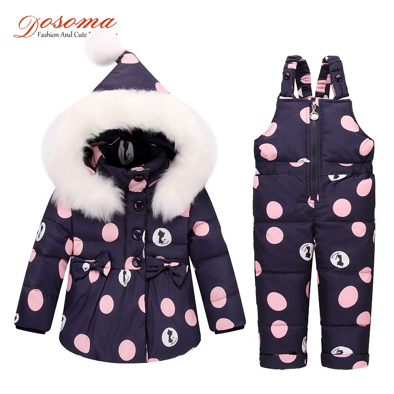 9ed2d3ab4663 Dosoma Girls Down Hooded Coat Children Warm Toddler Snowsuit ...