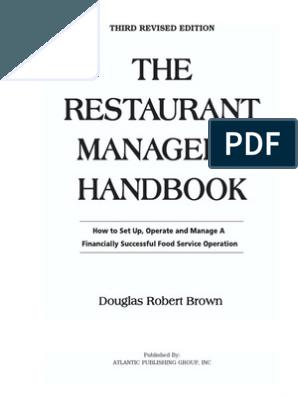 The Restaurant Manager S Handbook Brown Restaurant Opening Restaurant Opening Checklist Restaurant Marketing