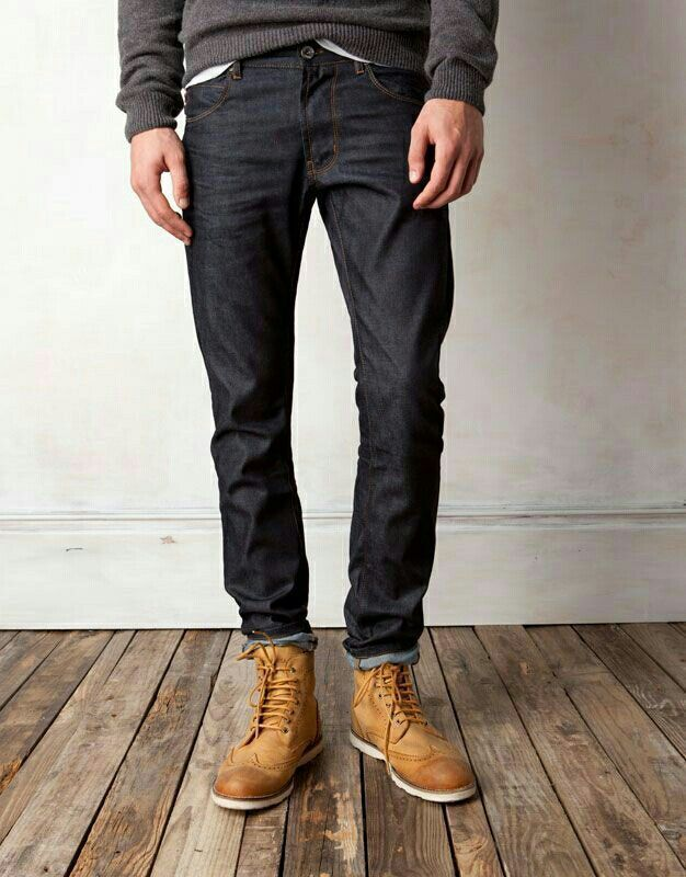 boots and dark jeans for Casual Wear.