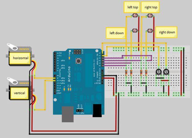 Arduino Solar Tracker Projetos Arduino Ideias De Projetos