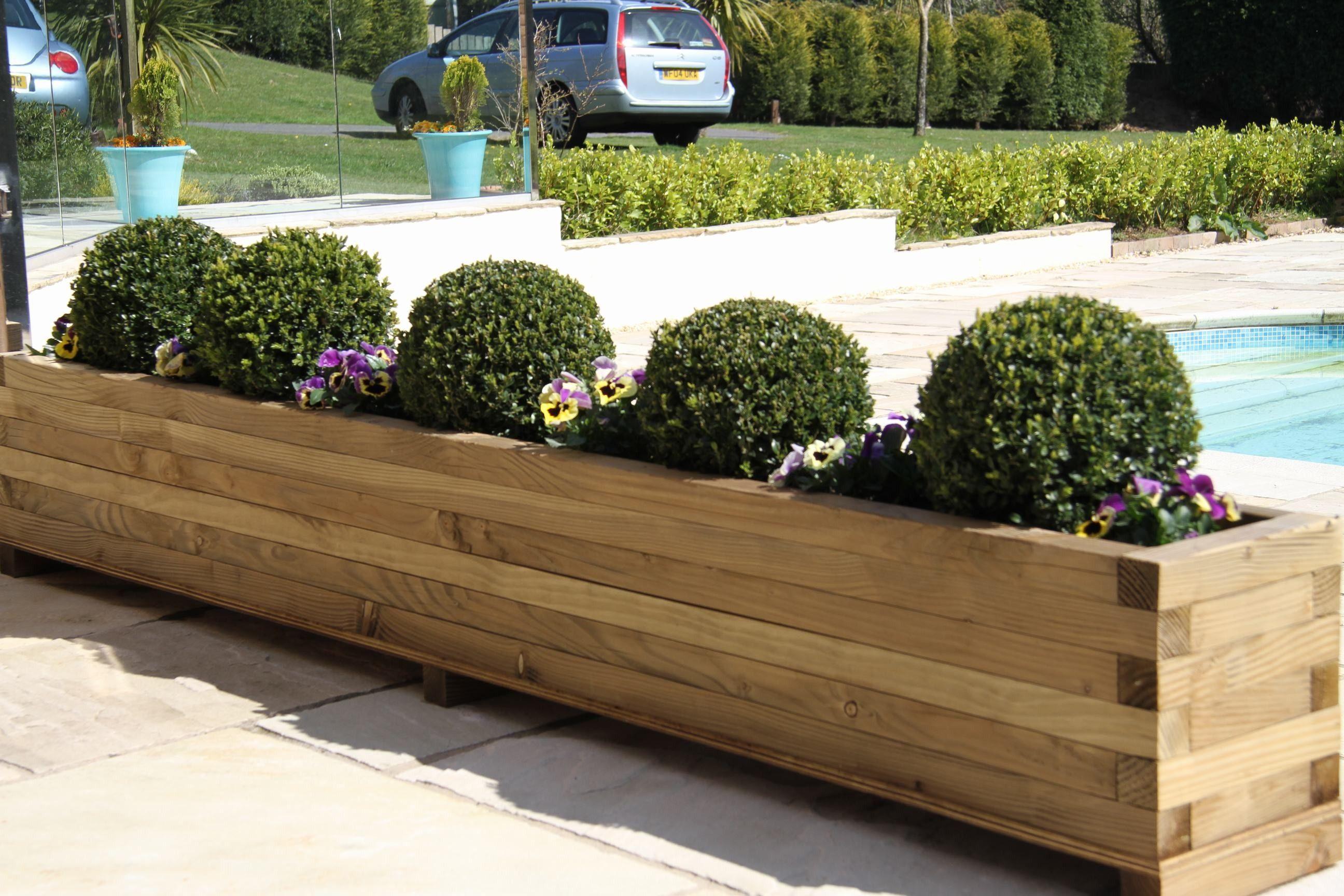 Douglas Fir Extra Large Garden Planter Outdoor Planters 640 x 480