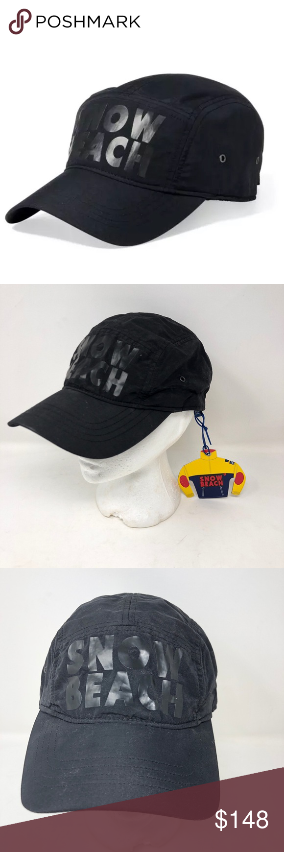 44858b8b946 Ralph Lauren Snow Beach Camp Hat Cap Cold Wave Ralph Lauren Snow Beach Camp  Hat   Cap Black Cold Wave Limited release Rare New