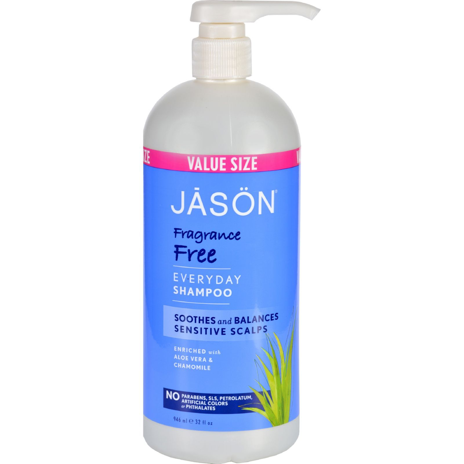 Jason Natural Products Shampoo For Sensitive Scalp Fragrance Free 32 Oz Trivoshop In 2021 Fragrance Free Products Fragrance Free Shampoo Natural Shampoo