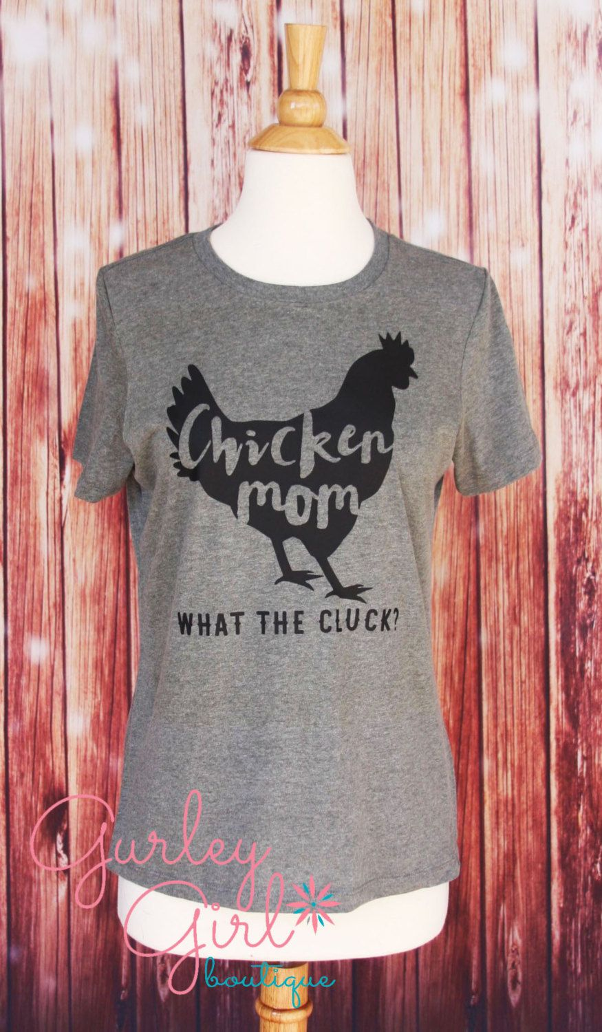 02eec659 Chicken Mom Crazy Chicken Lady Shirt Graphic Tee by GurleyGirlBoutique on  Etsy