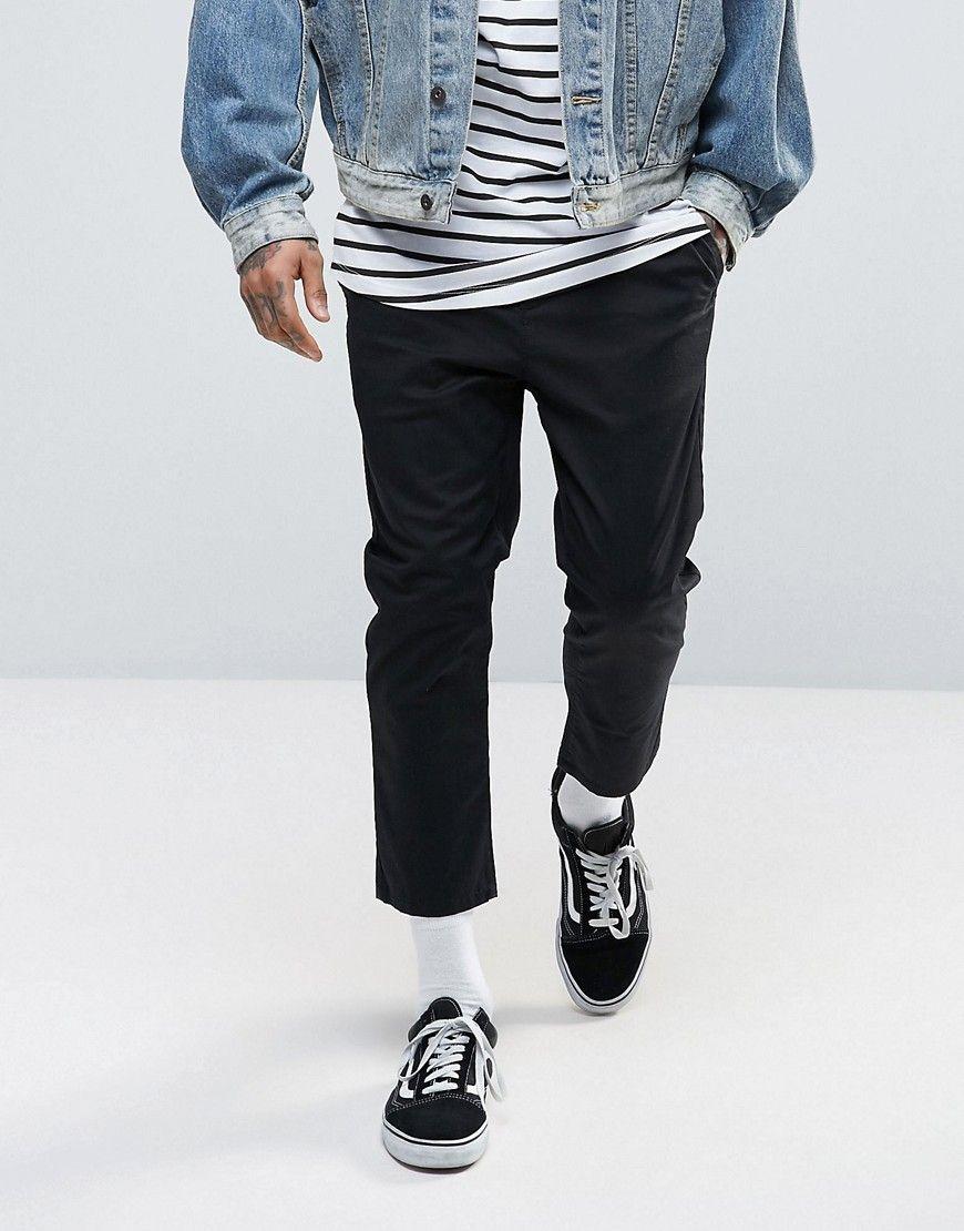 e0b7ee86218eb5 DESIGN skinny super cropped chinos in black in 2019 | Fashion ...