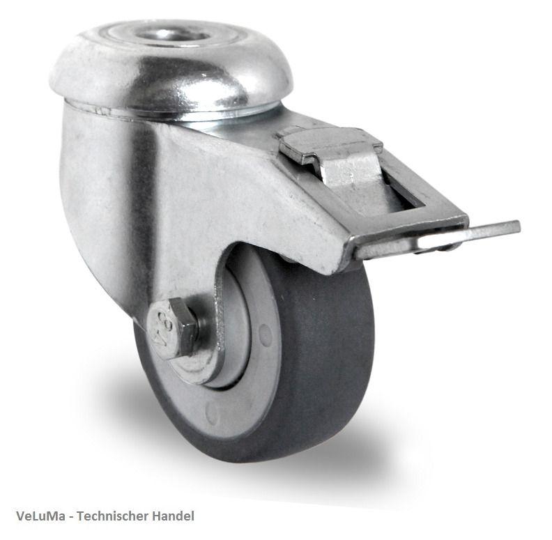 Strandkorbrollen Doppelrollen Schwerlastrolle Transportrollen Apparaterolle 75mm