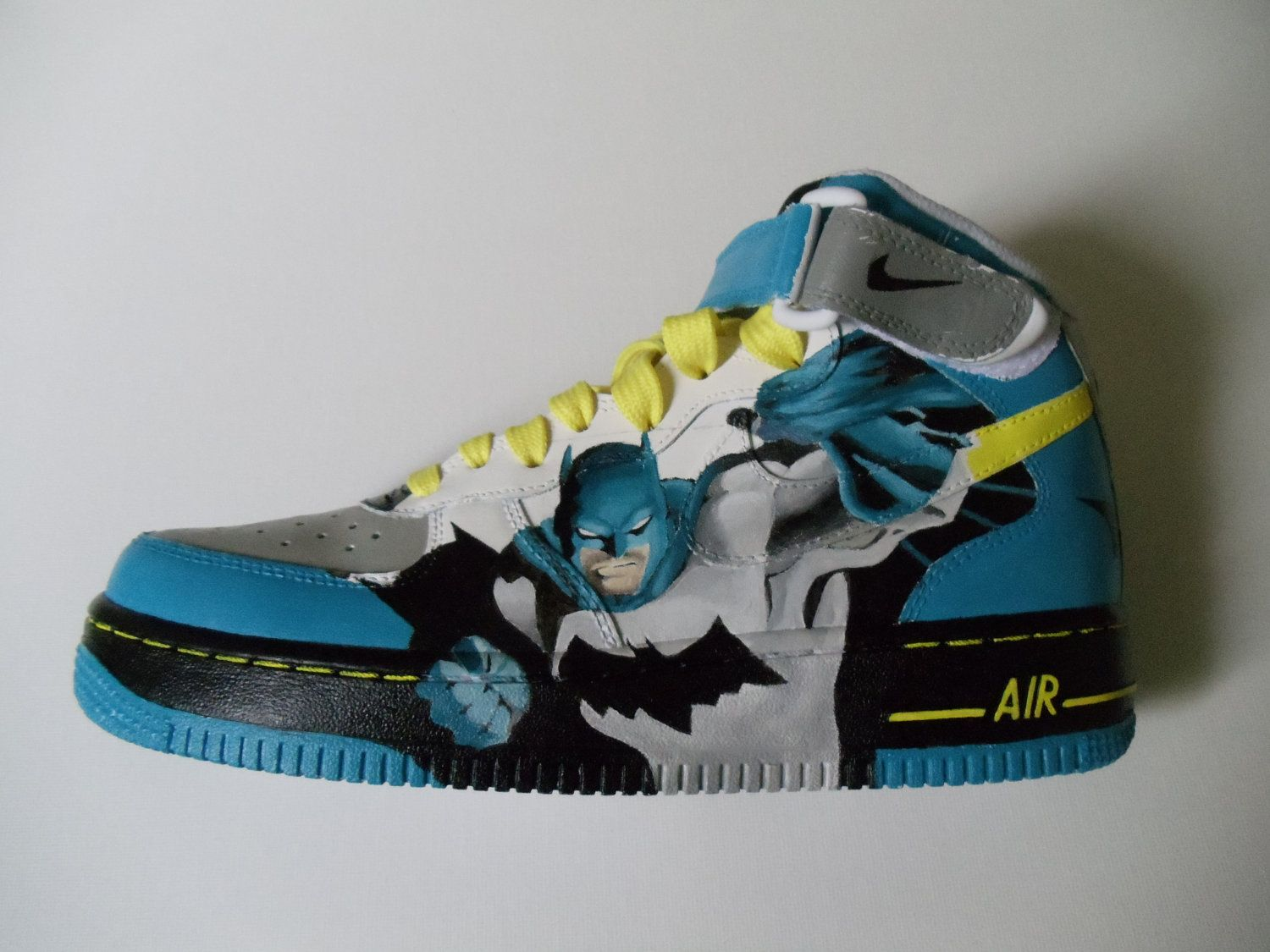 Custom Painted Batman Shoes - (Nike Air Force Ones). $160.00, via Etsy