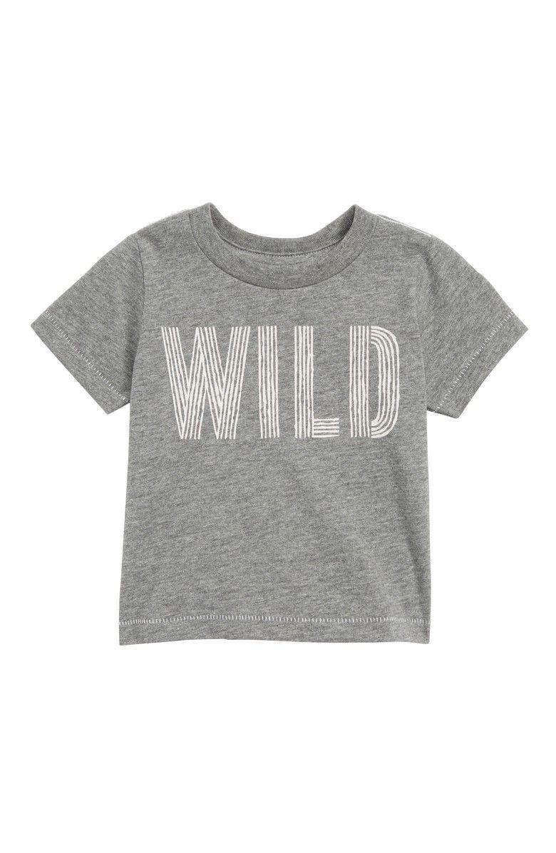 6699f4875 Peek Wild T-Shirt, Main,color, Heather Grey #toddler #ad #tshirt #boy #wild