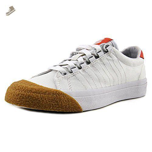 47e7cc0292b0c K-Swiss Women's Irvine T White/Fusion Coral/Dark Gum Canvas Sneaker ...