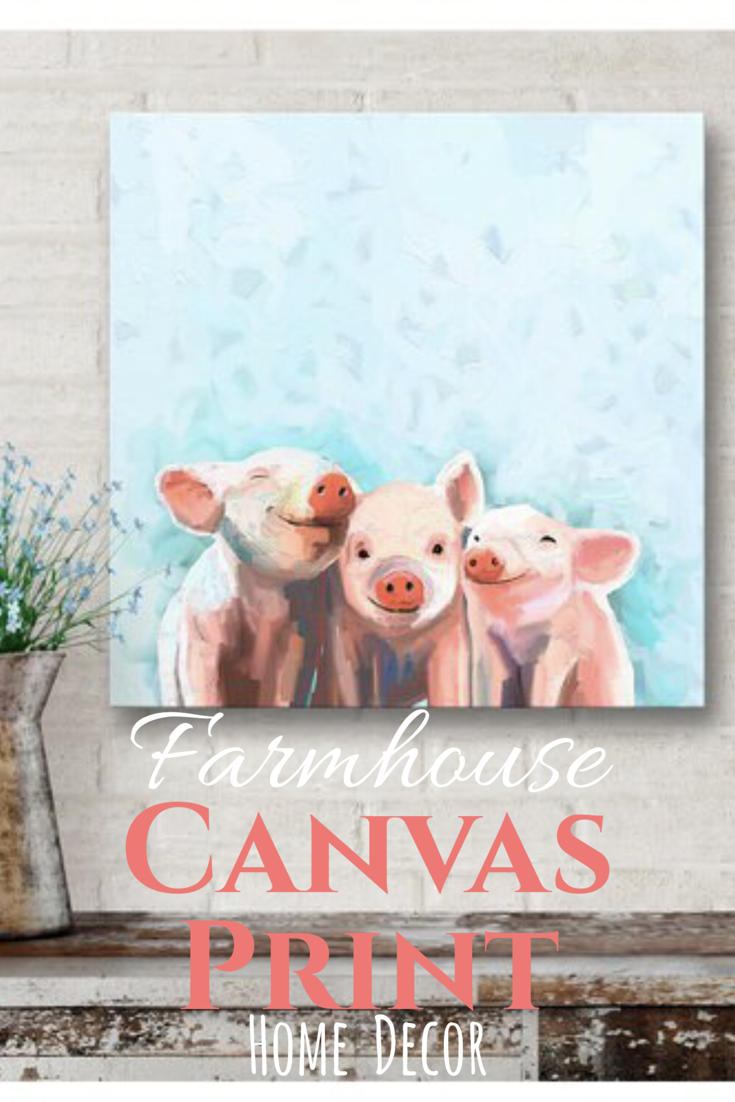 ADORABLE three little pigs wall decor. Could go in a kitchen or