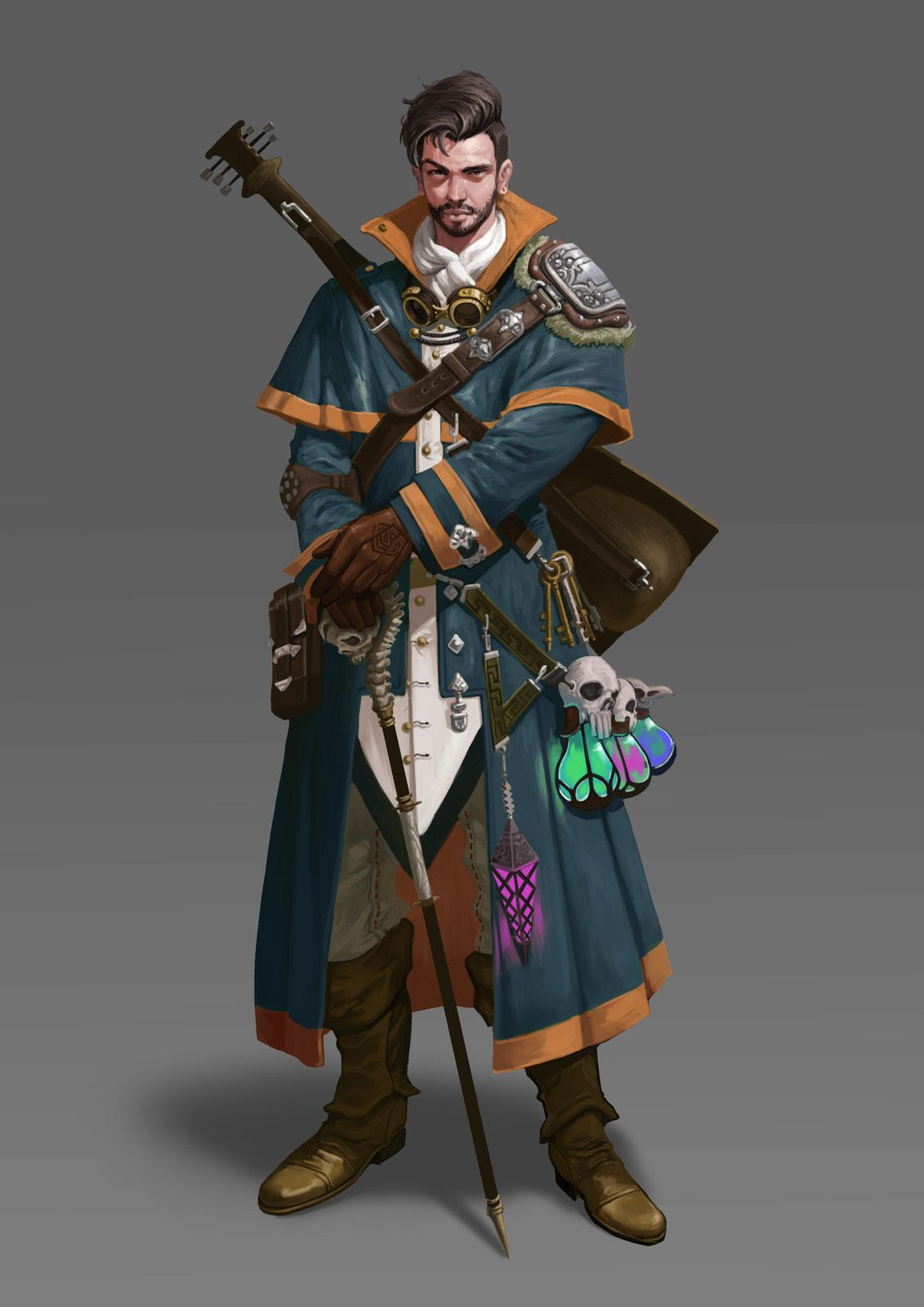 Character Design D D : Wizard dada lee on artstation at https