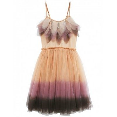 layered tulle dyed dress