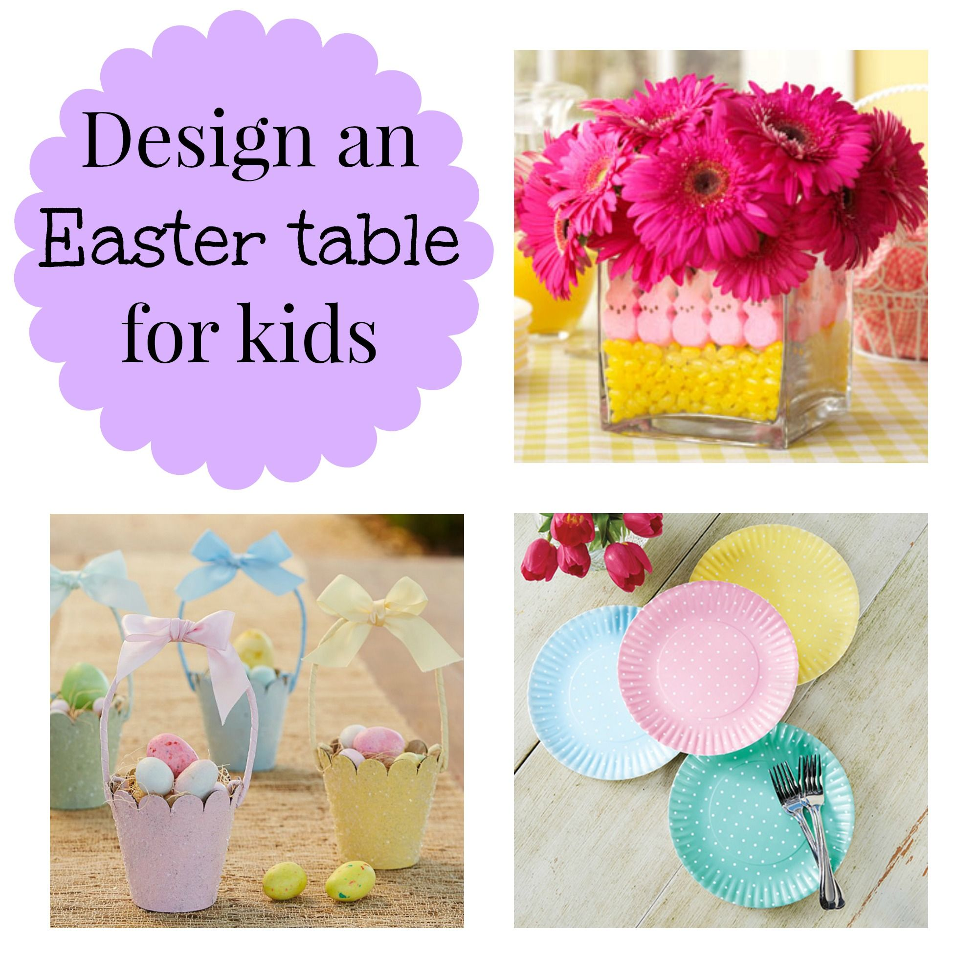 Design a darling Easter table for kids