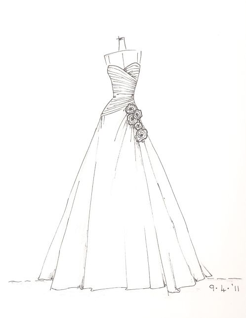 Www Etsy Com Shop Dresssketch Wedding Dress Sketch Caderno De Croquis De Moda Esbocos De Design De Moda Desenho De Moda