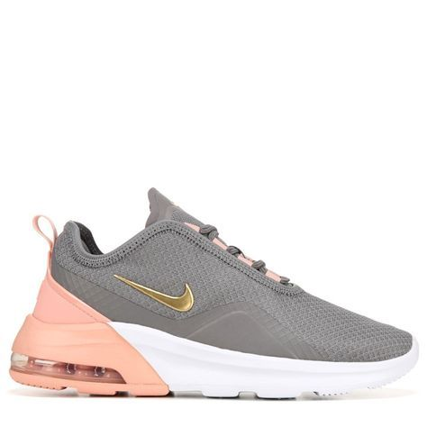 Nike Women's Air Max Motion 2 Sneakers (Grey/Pink/Gold/White ...