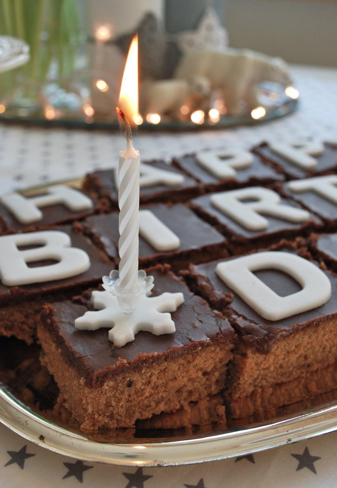 Dominik Geburtstagsfeier Brownie Birthday Cake Great idea cakes