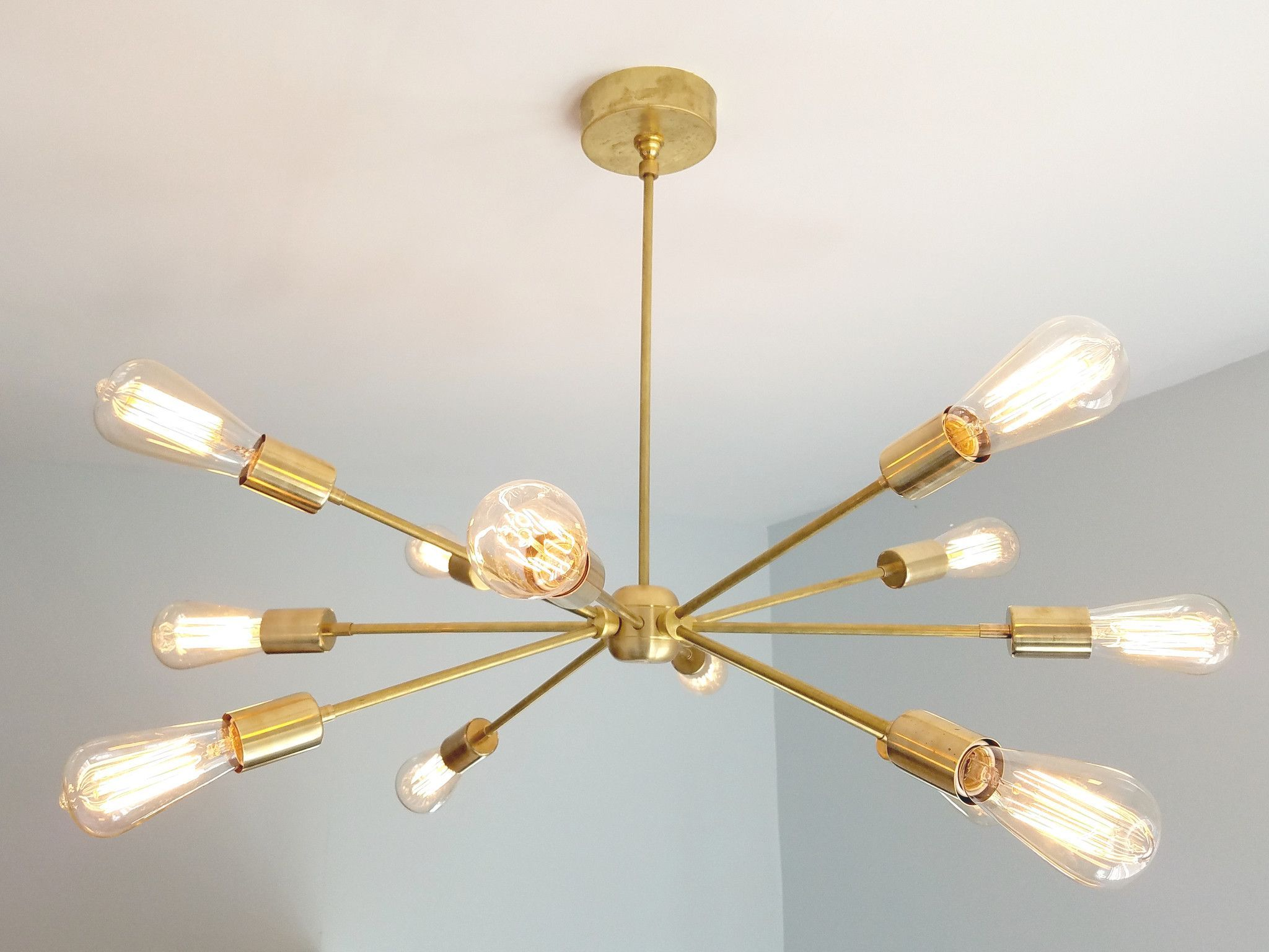 Elsie chandelier chandeliers bedrooms and lights the elsie chandelier is another take on the popular sputnik chandelier with 12 e26 sockets this fixture can be used as functional lighting for an office mozeypictures Images