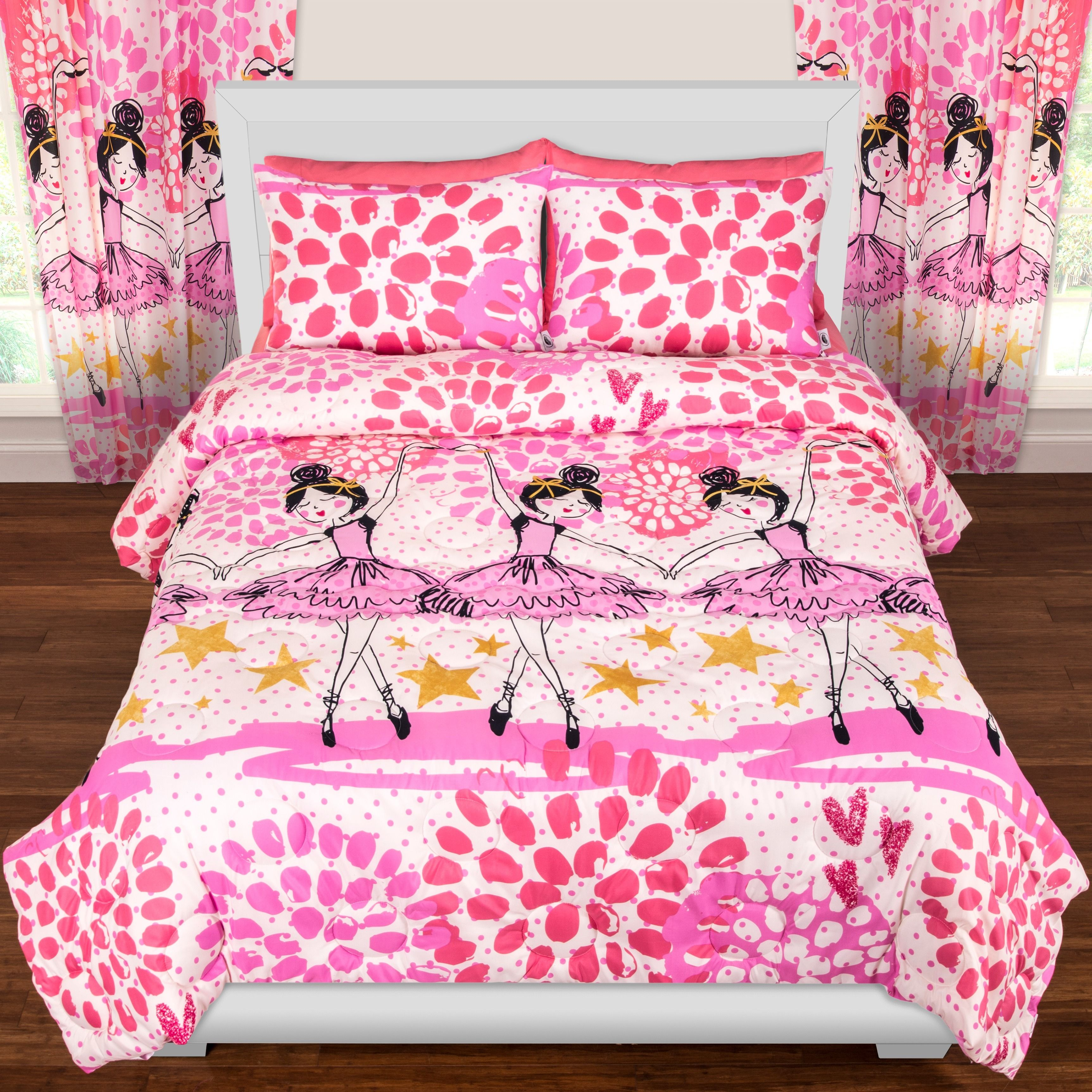 Featuring A Pattern Of Beautiful Ballerinas Dancing Among The Stars, This  Adorable Twinkle Toes Comforter Set From Crayola Will Have You Dancing Your  Way To ...