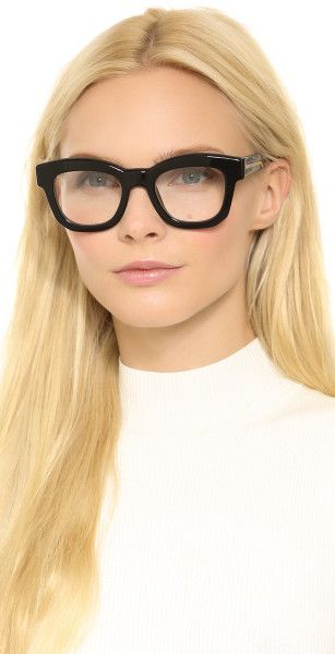 34b0bc955bedd Stella Mccartney Thick Frame Glasses - Brown in Black