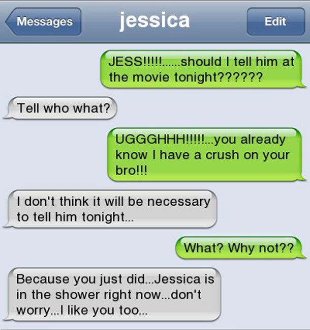Funny text messages to a girl