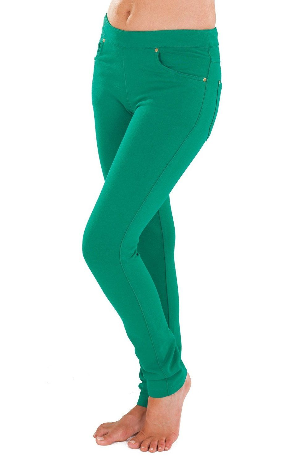 198b2b4a3 PajamaJeans COLORS - Skinny Green for Women at Amazon Women's Jeans store