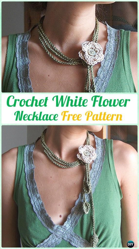 Crochet Necklace Free Patterns Instructions Crochet Jewelry