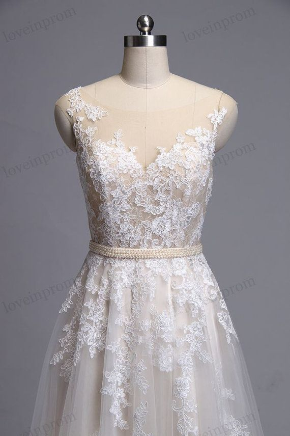 Vintage lace wedding dress wedding dress bridal gown by loveinprom