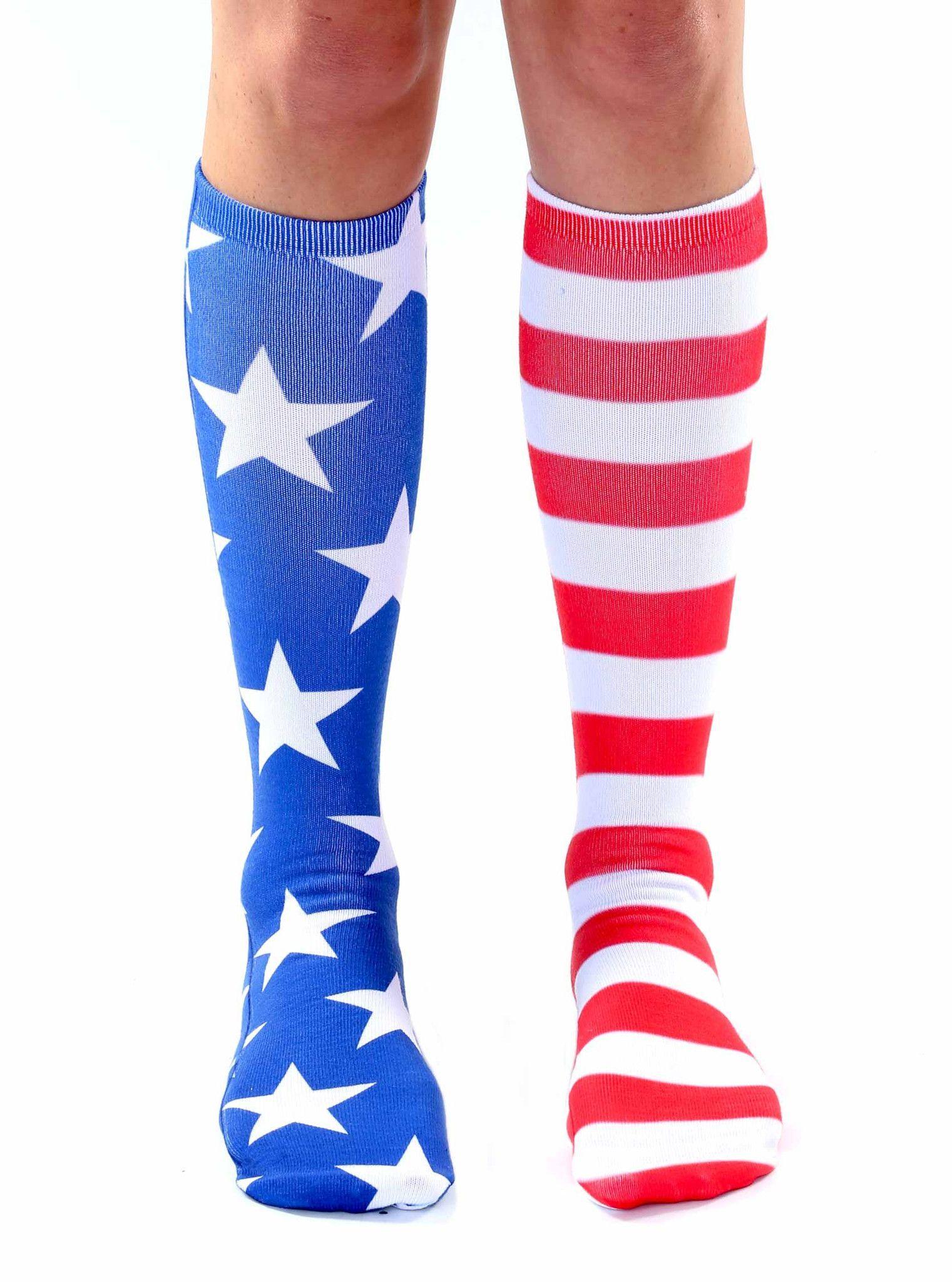 33a14cc389a Stars and Stripes Knee High Socks