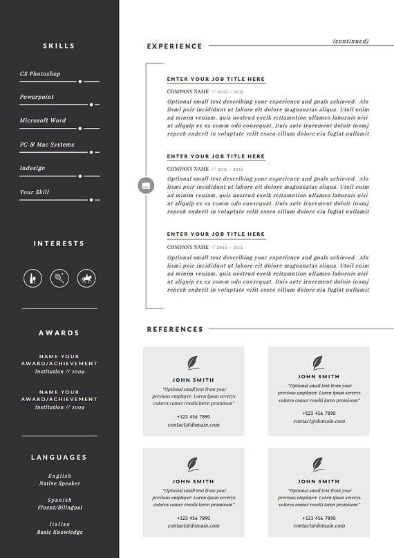 Professional Resume Template  Cover Letter + Icon Set for Microsoft - resumes that get noticed