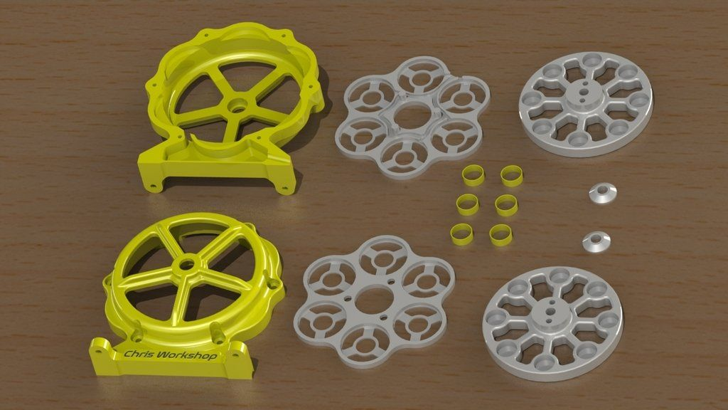 3D printed Electric Generator (axial flow generator) by