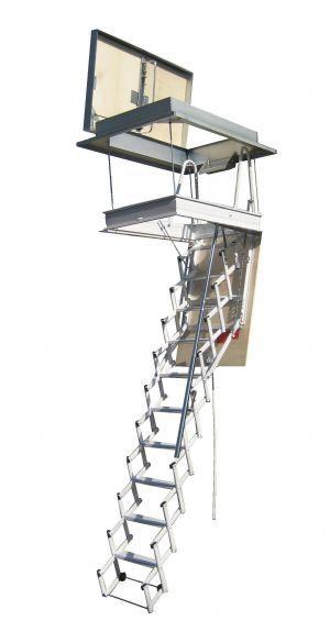 Escalera plegable tipo tijera elegant elegant wood - Escalera plegable altillo ...