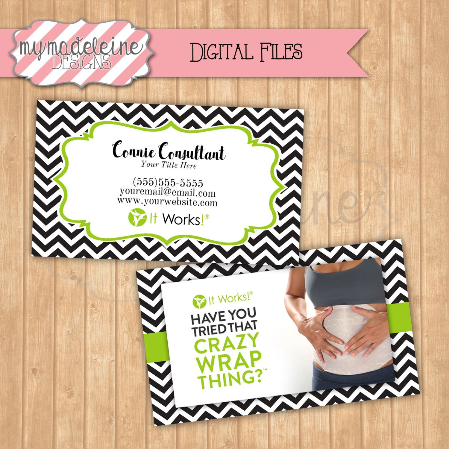 ItWorks Business Cards Direct Sales ItWorks Postcards Printable ...