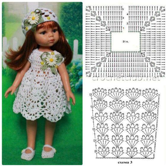 Vestido muñeca. Doll dress #dolldresspatterns Vestido muñeca. Doll dress #dolldresspatterns