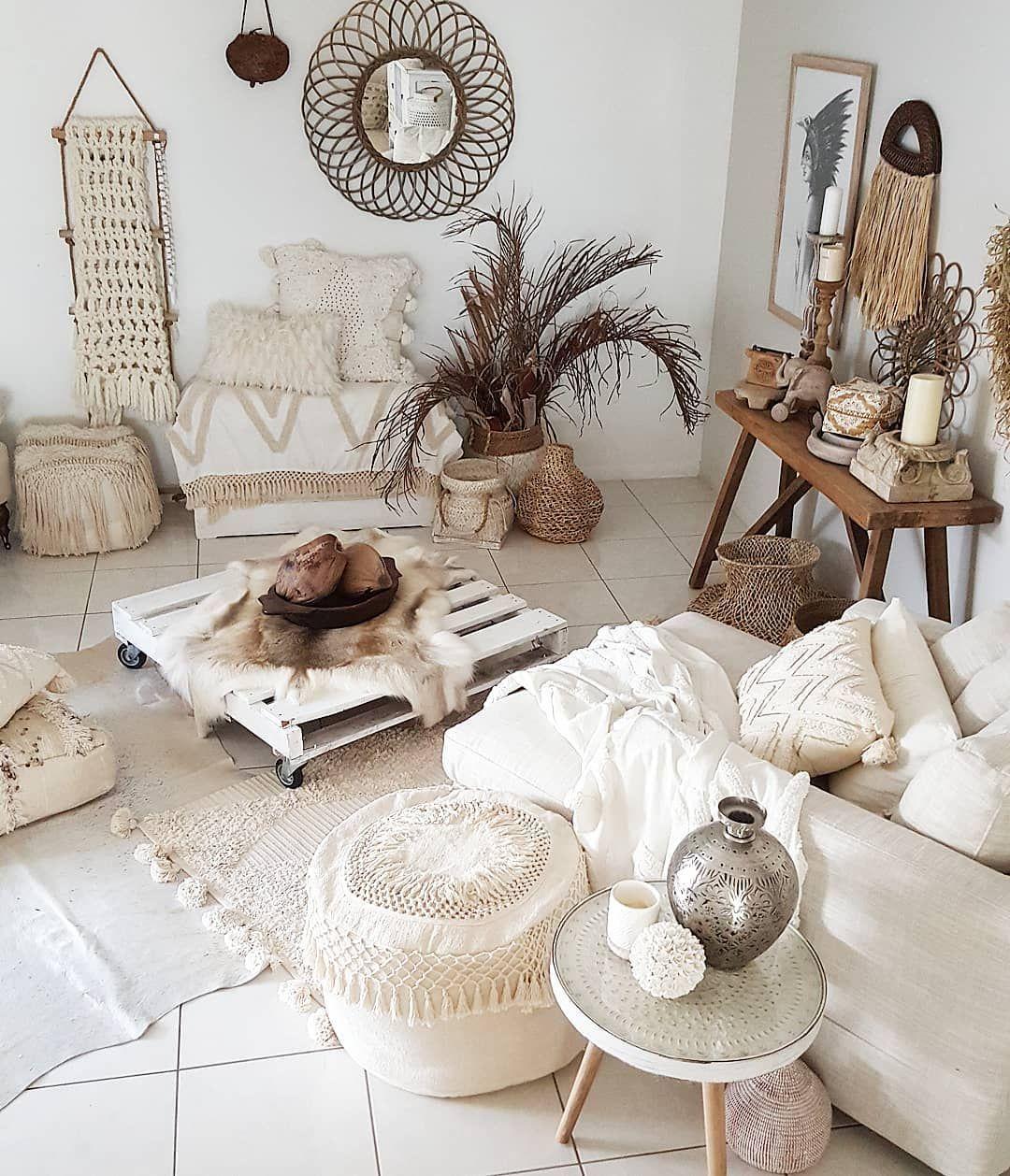 Pin auf White / Neutral Bohemian   Home decor ideas