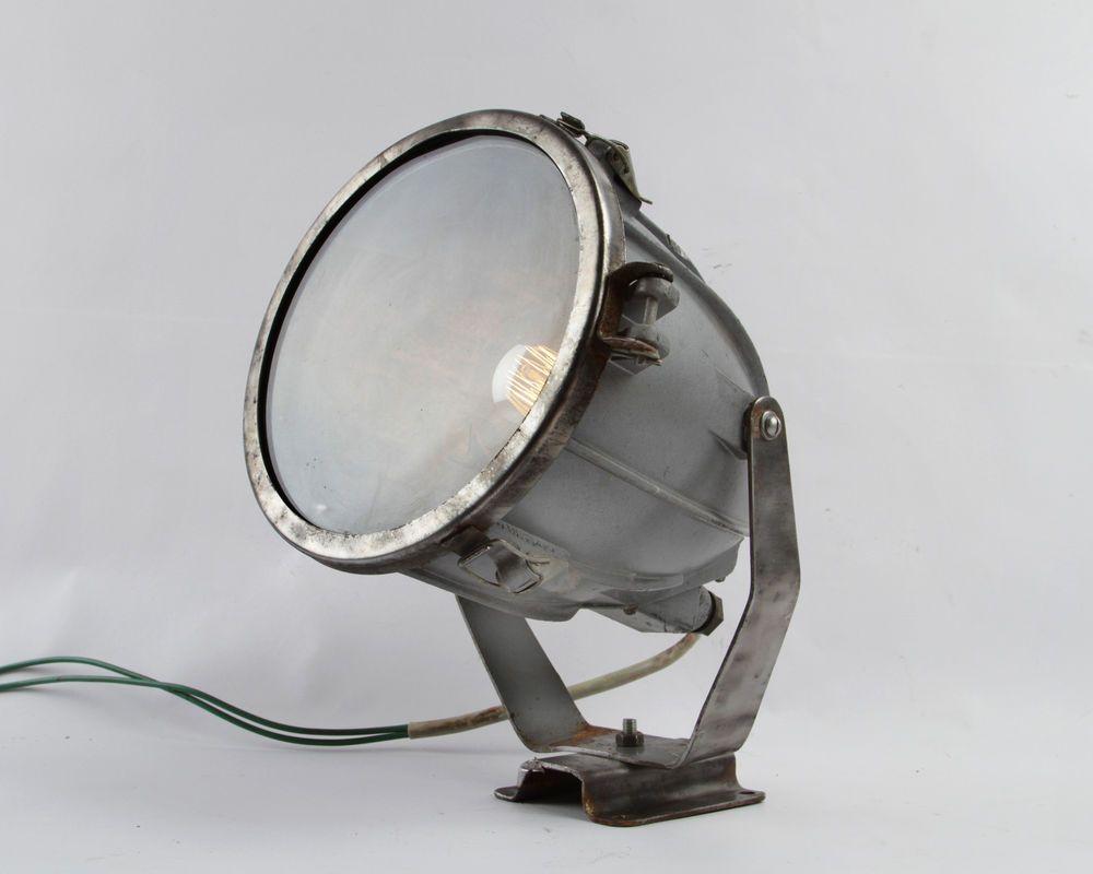 70 80er Spot Fabrik Industrie Lampe Design Industrial Lamp Loft Scheinwerfer Ebay Design Lampen Design Industrial