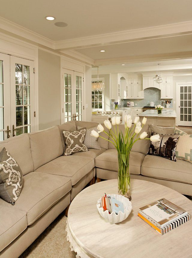 Contemporary Beige Living Room Ideas Painting