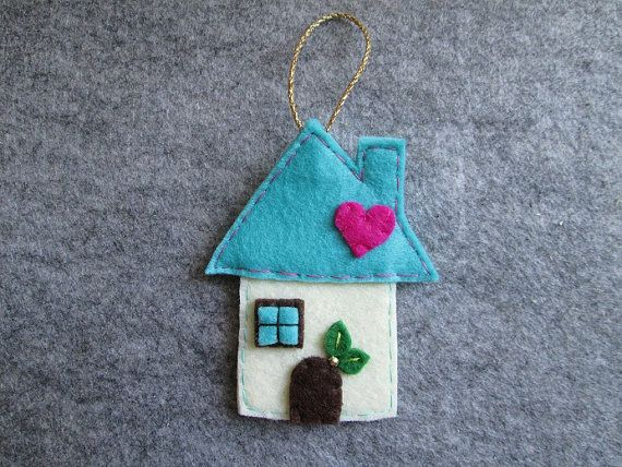 Felt Christmas Ornament Christmas Ornament  Felt by TinyFeltHeart