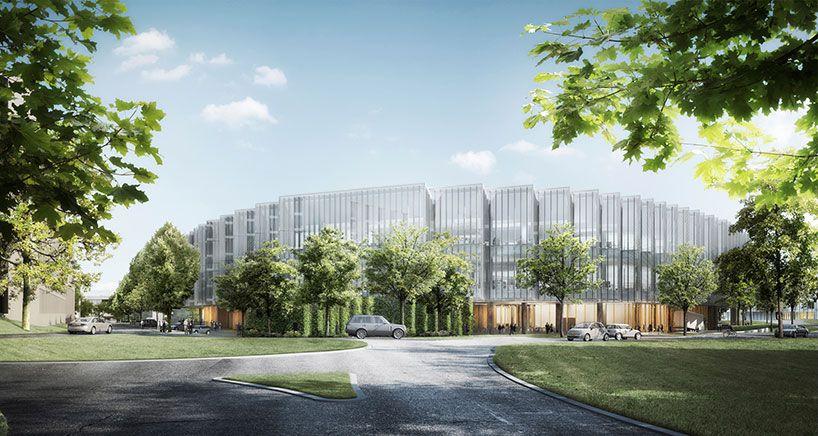 AstraZeneca's herzog & de meuron-designed global headquarters tops out