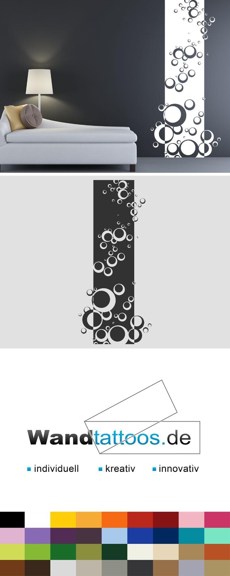 Wandbanner kreise wandtattoo raumhoch muster kreise - Wandgestaltung kreise ...