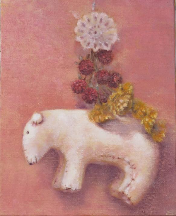 キャンバスサイズ3F(273×220)に、油彩でシロクマのぬいぐるみを中心にモチーフを集めた油絵です。原画、一点物です。価格は、原画のみの値段です...|ハンドメイド、手作り、手仕事品の通販・販売・購入ならCreema。